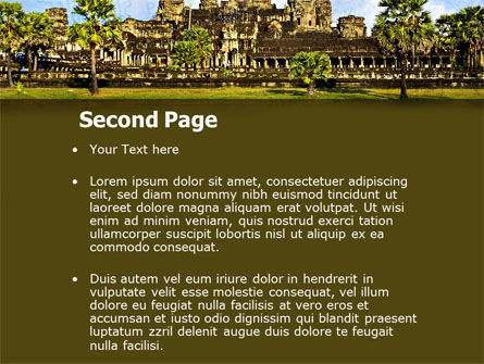 Cambodia PowerPoint Template, Slide 2, 04756, Flags/International — PoweredTemplate.com