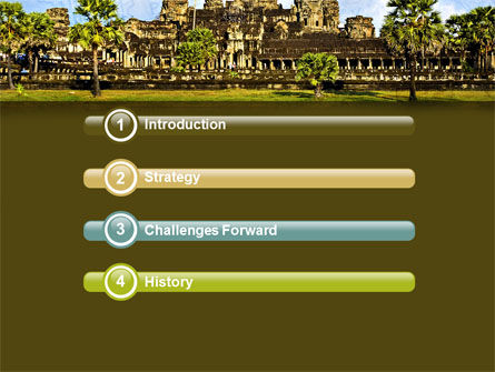 Cambodia PowerPoint Template, Slide 3, 04756, Flags/International — PoweredTemplate.com