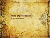 Abstract/Textures: Aged Paper Texture PowerPoint Template #04757