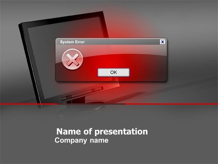 Technology and Science: Error PowerPoint Template #04768