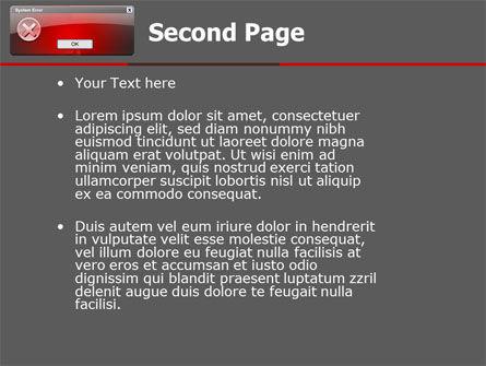 Error PowerPoint Template, Slide 2, 04768, Technology and Science — PoweredTemplate.com
