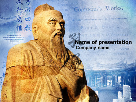 Confucius PowerPoint Template, 04769, Education & Training — PoweredTemplate.com
