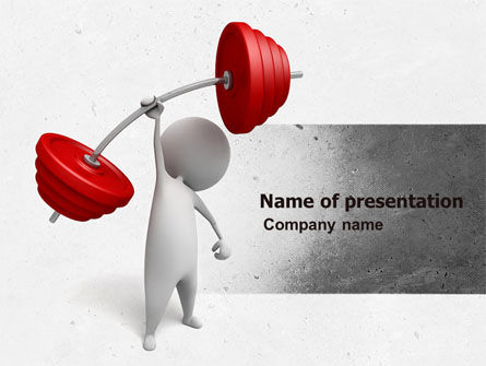 Strength PowerPoint Template, 04770, Business Concepts — PoweredTemplate.com