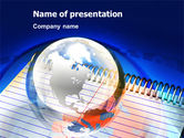 Global: Business Notes PowerPoint Template #04771