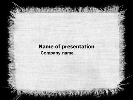 Abstract/Textures: White Cloth PowerPoint Template #04772