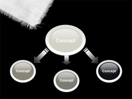 White Cloth PowerPoint Template, Slide 4, 04772, Abstract/Textures — PoweredTemplate.com