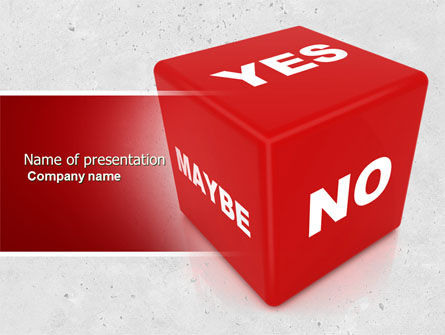 Decision Cube PowerPoint Template, 04774, Consulting — PoweredTemplate.com