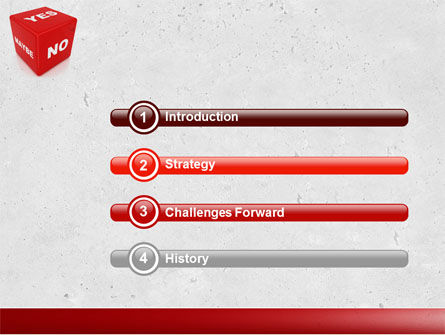 Decision Cube PowerPoint Template, Slide 3, 04774, Consulting — PoweredTemplate.com