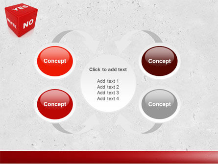 Decision Cube PowerPoint Template Slide 6