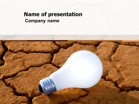 Electricity Free PowerPoint Template, 04776, Nature & Environment — PoweredTemplate.com