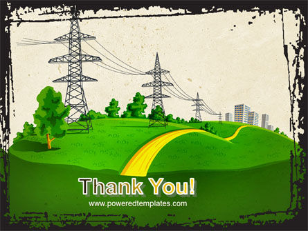 Electric Power Line PowerPoint Template Slide 20