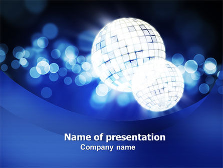 Disco Mirror Ball PowerPoint Template, 04778, Careers/Industry — PoweredTemplate.com