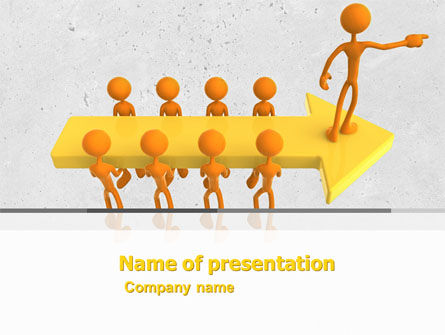 Specified Direction PowerPoint Template