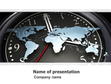 World Clock PowerPoint Template, 04781, Global — PoweredTemplate.com