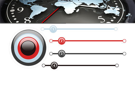 World Clock PowerPoint Template, Slide 3, 04781, Global — PoweredTemplate.com