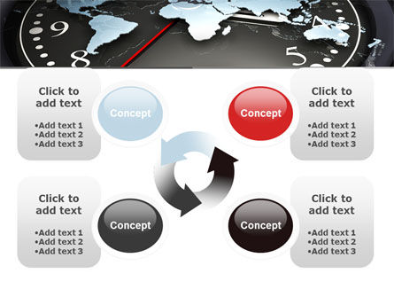 World Clock PowerPoint Template Slide 9