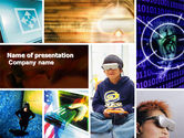 Technology and Science: Virtual Reality Collage PowerPoint Template #04782