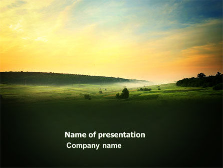 Nature & Environment: Evening View PowerPoint Template #04783