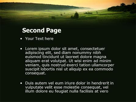 Evening View PowerPoint Template, Slide 2, 04783, Nature & Environment — PoweredTemplate.com