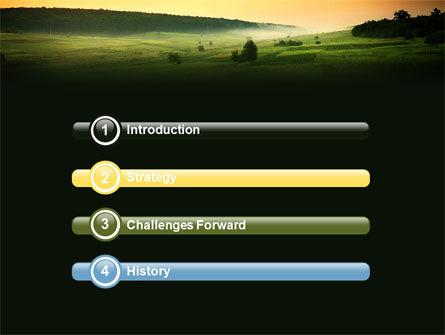 Evening View PowerPoint Template, Slide 3, 04783, Nature & Environment — PoweredTemplate.com