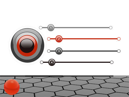 Red Ball On Cells PowerPoint Template, Slide 3, 04784, Business Concepts — PoweredTemplate.com