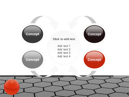 Red Ball On Cells PowerPoint Template Slide 6