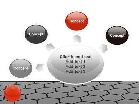 Red Ball On Cells PowerPoint Template Slide 7