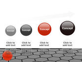 Red Ball On Cells PowerPoint Template#13