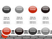Red Ball On Cells PowerPoint Template#18
