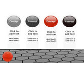 Red Ball On Cells PowerPoint Template#5