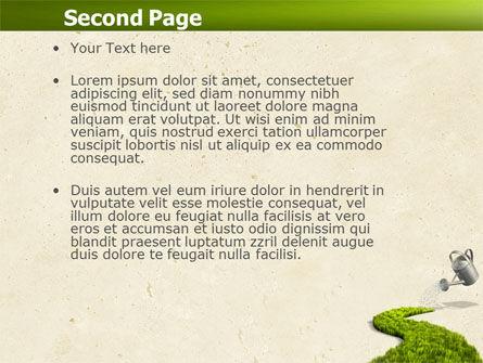 Green Path PowerPoint Template, Slide 2, 04785, Nature & Environment — PoweredTemplate.com
