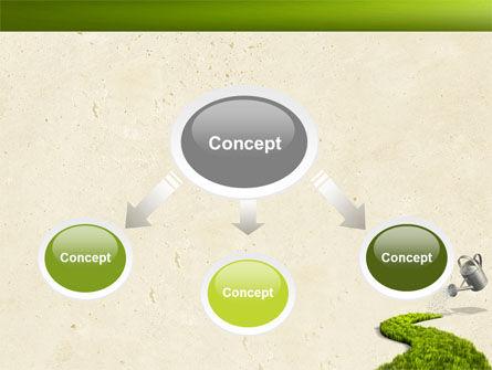 Green Path PowerPoint Template, Slide 4, 04785, Nature & Environment — PoweredTemplate.com
