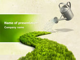 Green Path PowerPoint Template#1