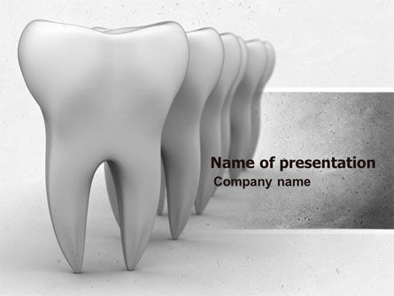 Teeth PowerPoint Template, 04787, Medical — PoweredTemplate.com