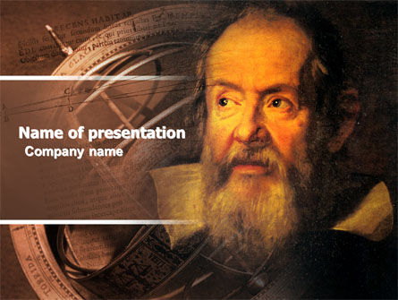 Galileo Galilei PowerPoint Template