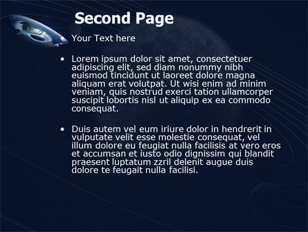 Spaceship PowerPoint Template, Slide 2, 04789, Technology and Science — PoweredTemplate.com