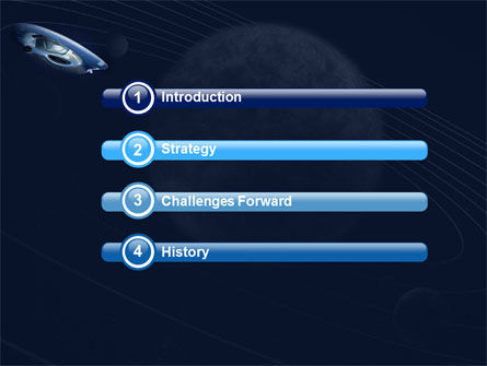 Spaceship PowerPoint Template Slide 3