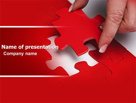 Consulting: Red Piece PowerPoint Template #04790
