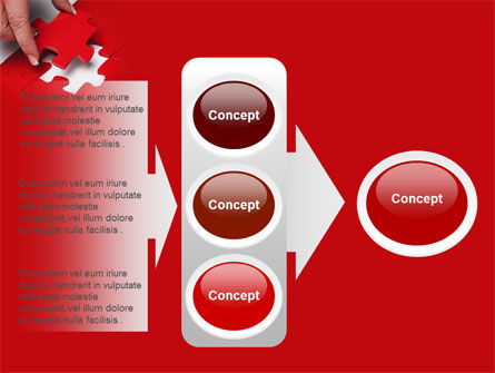 Red Piece PowerPoint Template Slide 11