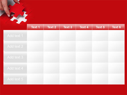 Red Piece PowerPoint Template Slide 15