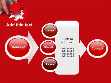 Red Piece PowerPoint Template Slide 17