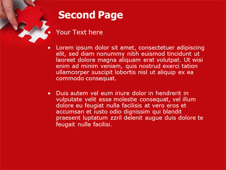 Red Piece PowerPoint Template Slide 2