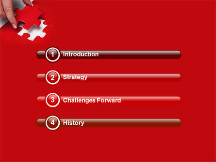 Red Piece PowerPoint Template Slide 3