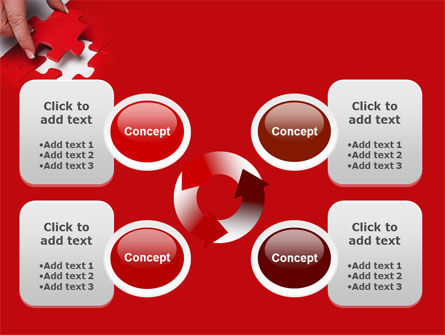 Red Piece PowerPoint Template Slide 9