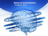 Technology and Science: Artificial Mind PowerPoint Template #04792