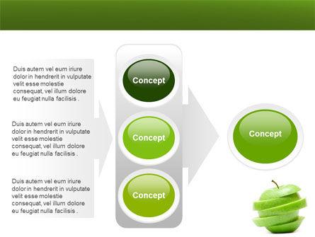 Sliced Green Apple PowerPoint Template Slide 11