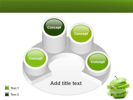 Sliced Green Apple PowerPoint Template Slide 12