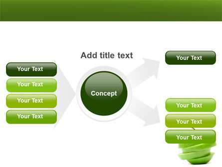 Sliced Green Apple PowerPoint Template Slide 14