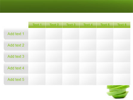 Sliced Green Apple PowerPoint Template Slide 15