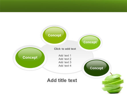 Sliced Green Apple PowerPoint Template Slide 16